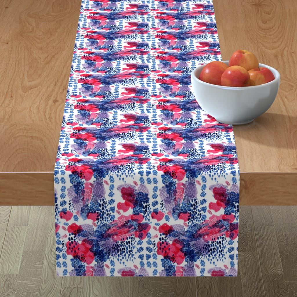 Minorca Table Runner featuring Raining Berries by nicoletlaursen