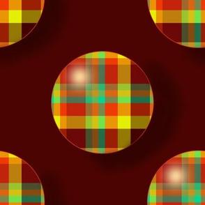 BN12 - MED - Summer Romp Plaid Polka Dots on Rustic Brown