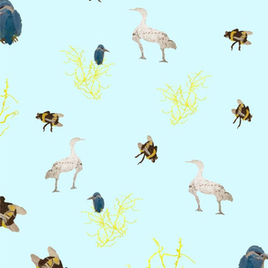 The birds and the bees pale blue