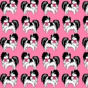 Japanese Chin pink fabric design