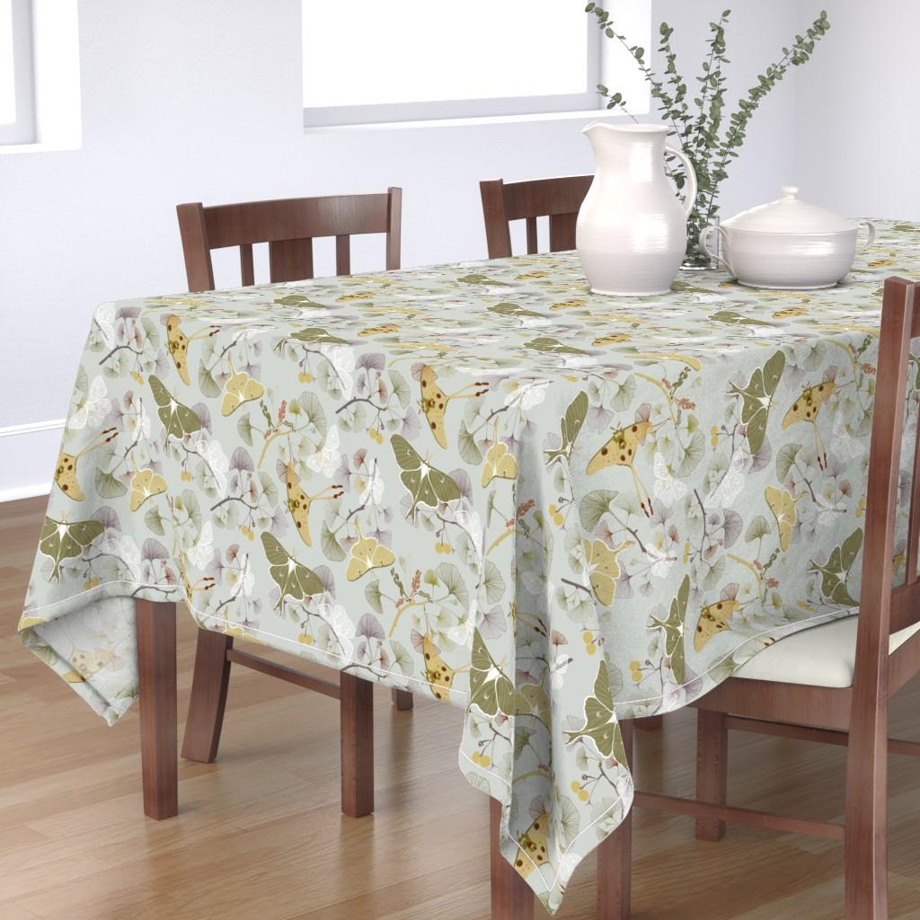 Bantam Rectangular Tablecloth featuring Luna Moth by jaanahalme