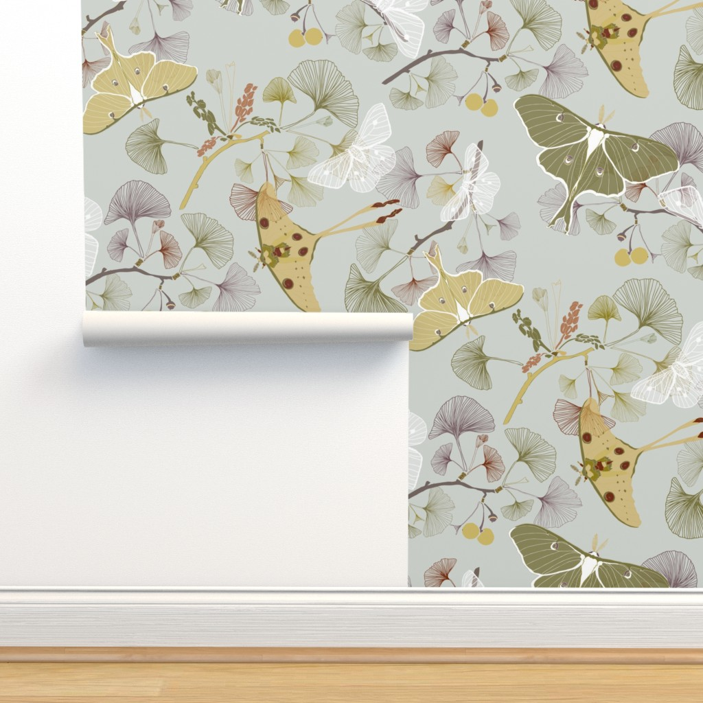 Isobar Durable Wallpaper featuring Luna Moth by jaanahalme