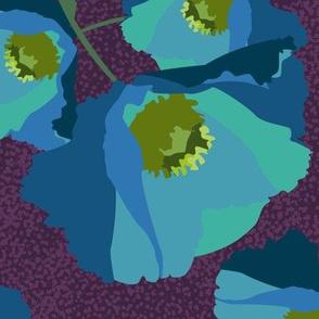 Poppies Blue-01