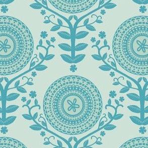 Paper Doily Blue