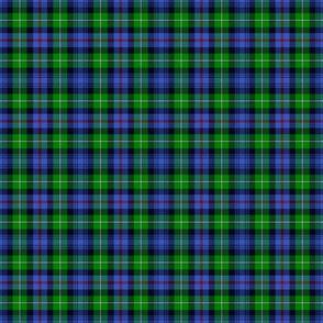 "Mackenzie / Seaforth Highlander tartan, 2"", modern colors (twill lines)"