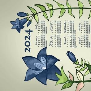 2021 Calendar, Sunday / Gentian