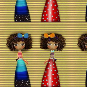 Rupydetequila Doll Africa Striped Yellow Kids Dolls