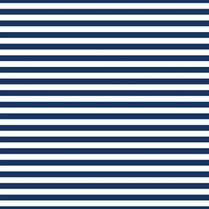 Navy Blue and White Half Inch Stripes FS Admiral Blue Navy