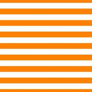 FS Carrot Orange and White Half Inch Stripes