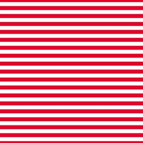 FS Cherry Red Half Inch Stripes