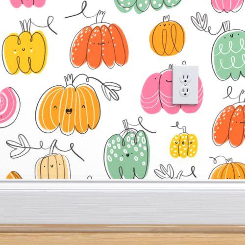 Funny Pumpkins Pattern Spoonflower