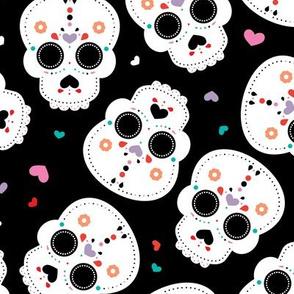 Mexican sugar skulls dia de los muertos skull halloween kids girls LARGE