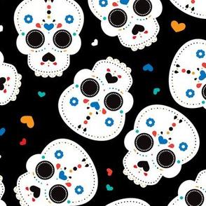 Mexican sugar skulls dia de los muertos skull halloween kids boys LARGE