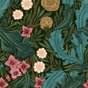 Victorian Era Lush Vintage Floral