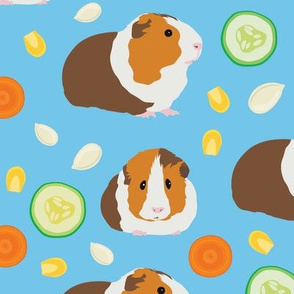 Guinea Pig with Food