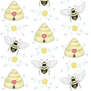 Sweet Bees And Bee Hives