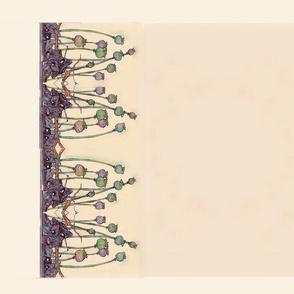 Mackintosh poppy  small scale tea towel