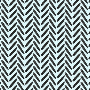 18-10B Baby Blue Black Herringbone Watercolor  _  Miss Chiff Designs