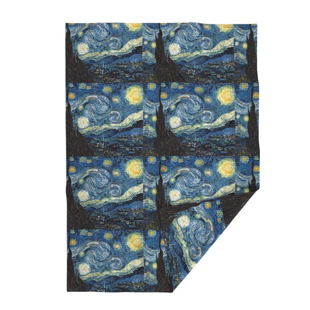 Lakenvelder Throw Blanket featuring Van Gogh - The Starry Night (1889) (20x24) by studiofibonacci