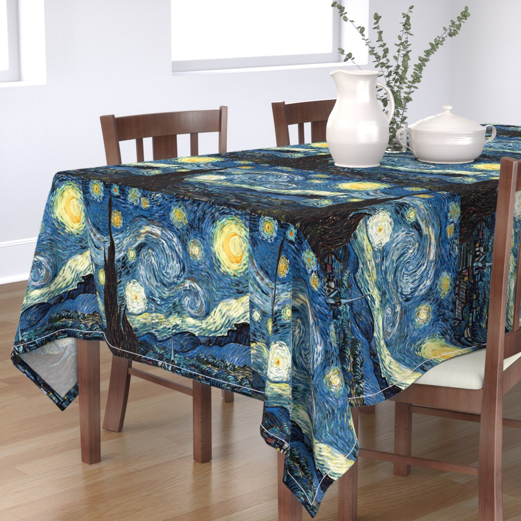 Bantam Rectangular Tablecloth featuring Van Gogh - The Starry Night (1889) (20x24) by studiofibonacci