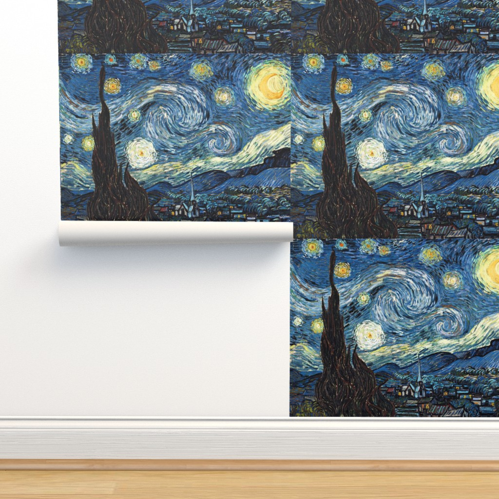 Isobar Durable Wallpaper featuring Van Gogh - The Starry Night (1889) (20x24) by studiofibonacci