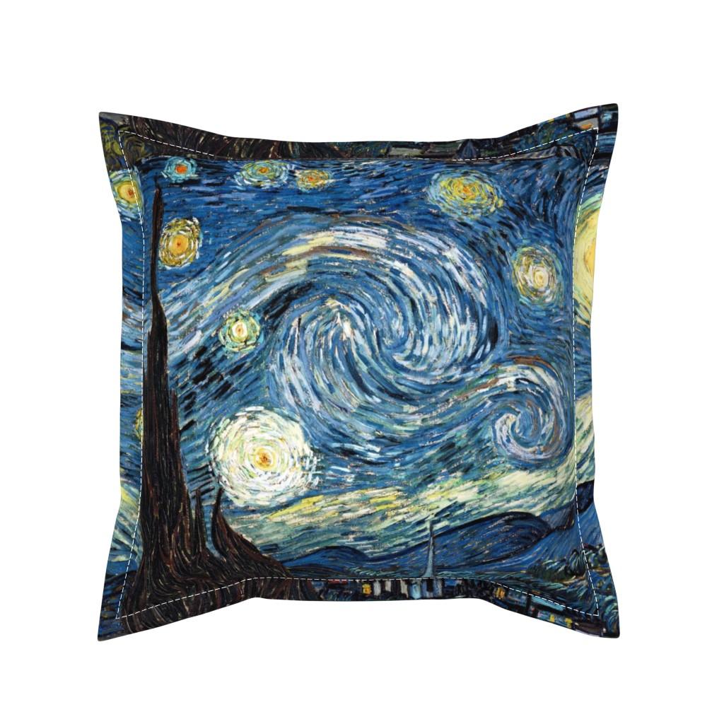 Serama Throw Pillow featuring Van Gogh - The Starry Night (1889) (20x24) by studiofibonacci