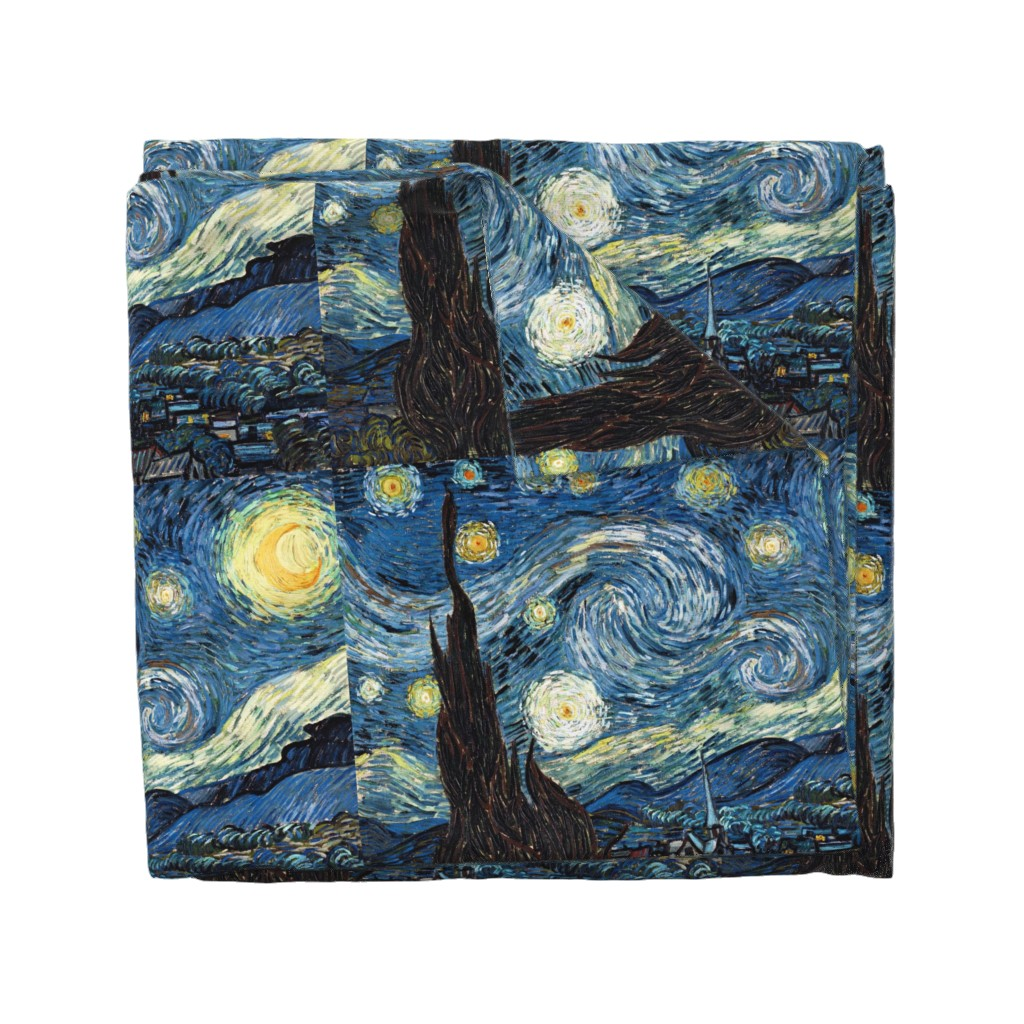 Wyandotte Duvet Cover featuring Van Gogh - The Starry Night (1889) (20x24) by studiofibonacci