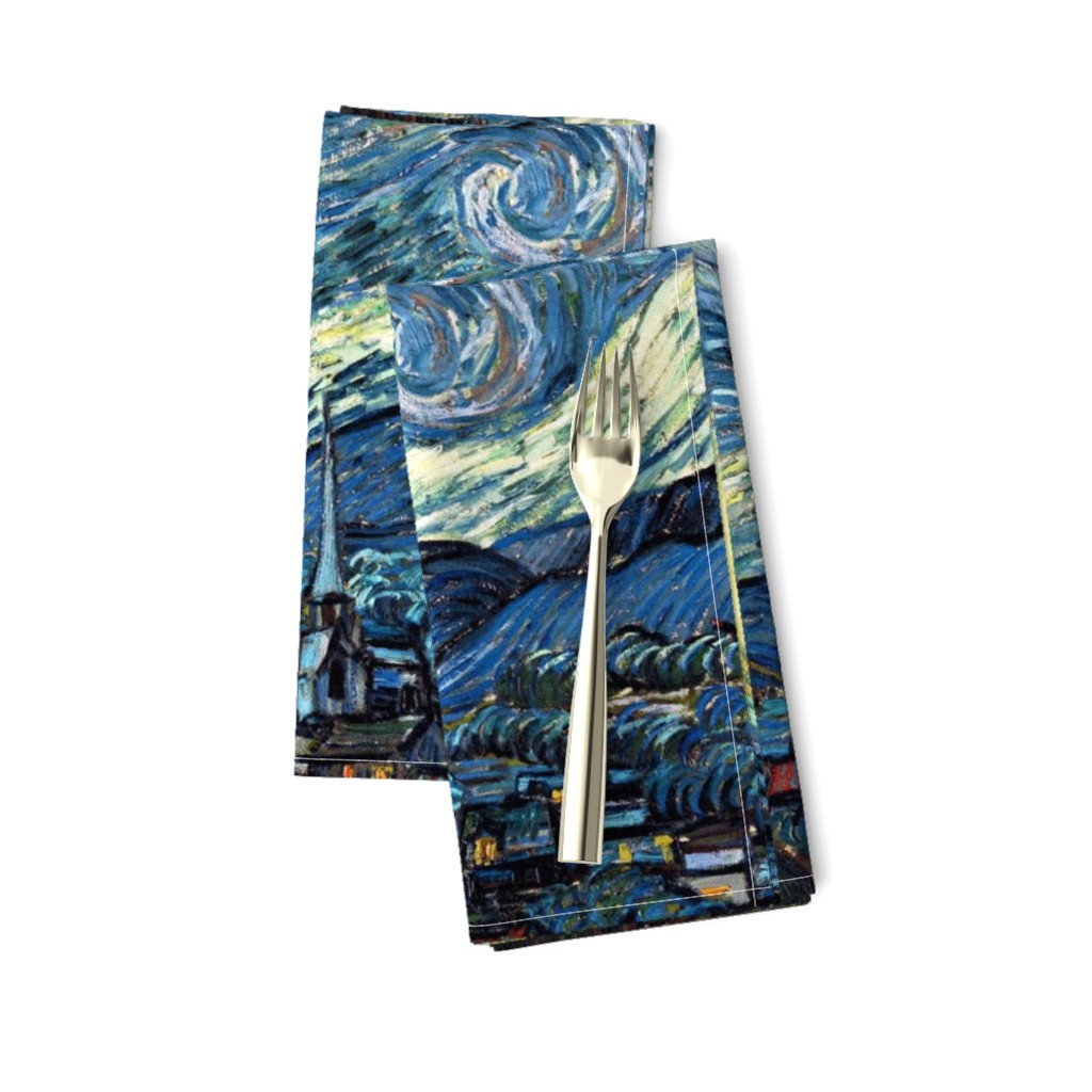 Amarela Dinner Napkins featuring Van Gogh - The Starry Night (1889) (20x24) by studiofibonacci