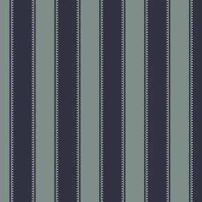 Victorian Stripe - Dark Blue