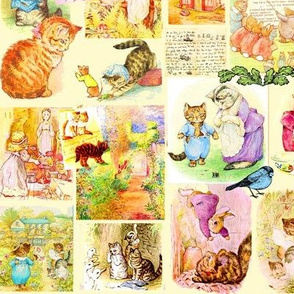 Beatrix Potter Feline Friends..Cats/Bright