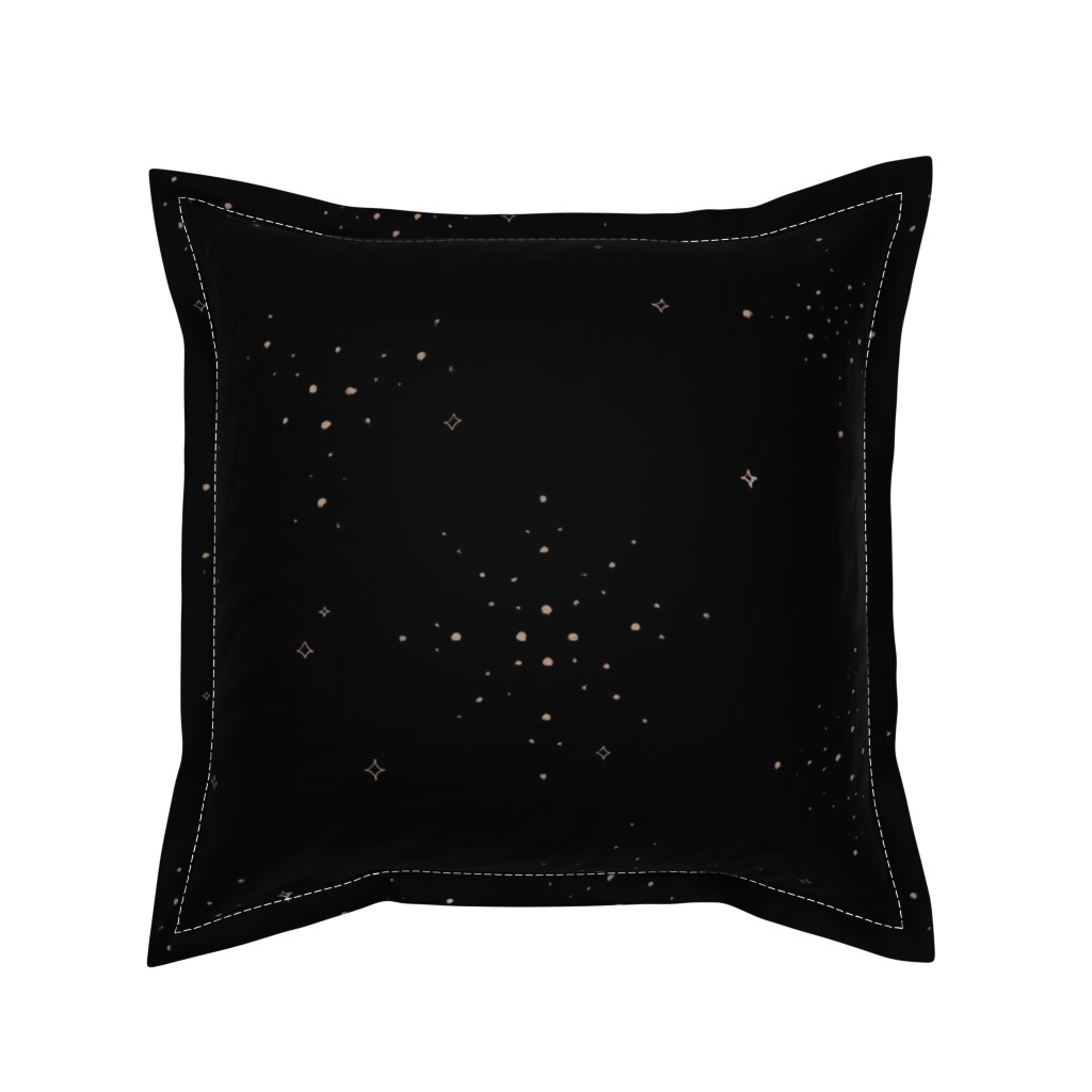Serama Throw Pillow featuring Golden Sparkles by karina_love