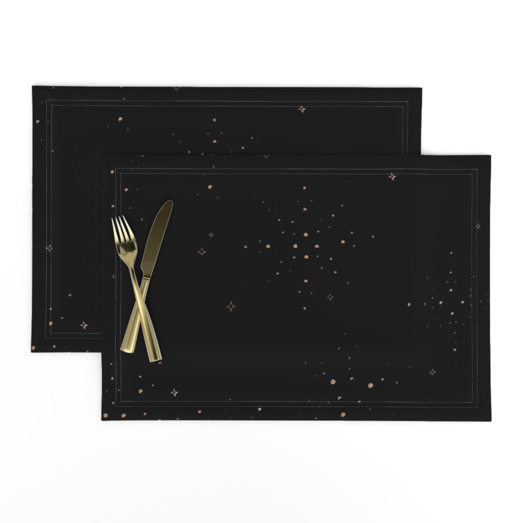 Lamona Cloth Placemats featuring Golden Sparkles by karina_love