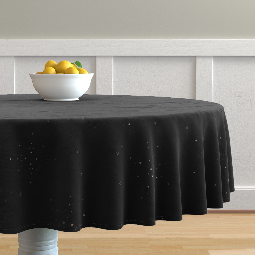 Malay Round Tablecloth featuring Golden Sparkles by karina_love
