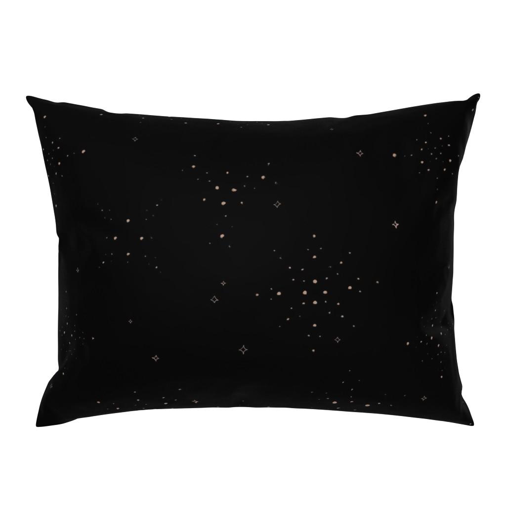 Campine Pillow Sham featuring Golden Sparkles by karina_love