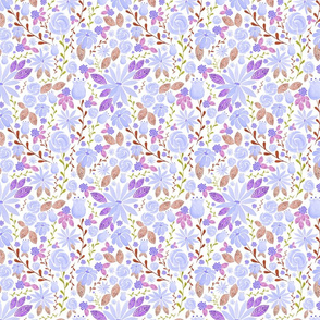 "Lavender watercolor florals ""New Girl"""