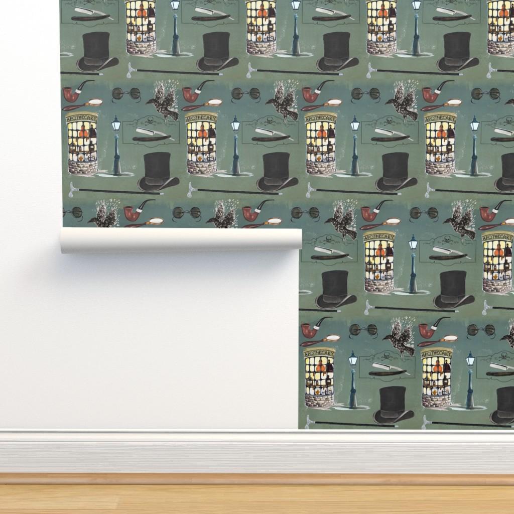 Isobar Durable Wallpaper featuring London Murder Mystery by hunnellekari