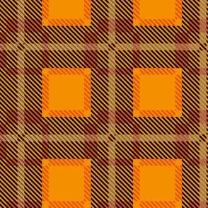 Scottish Tartan Orange