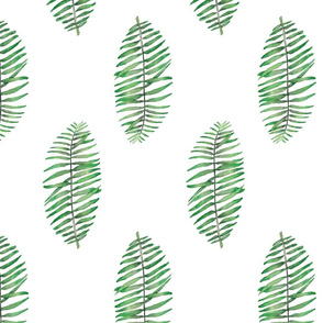 palm leave simple repeat on white