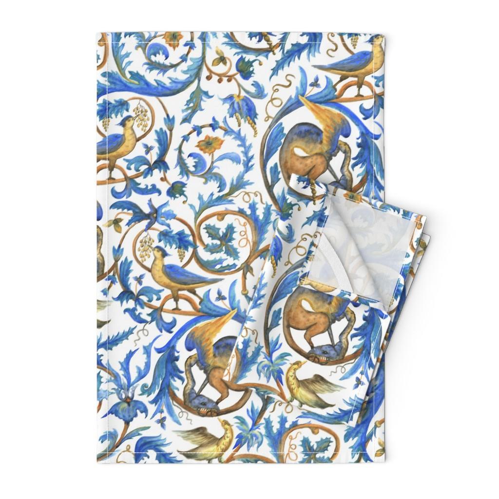 Orpington Tea Towels featuring Enchanted garden by sveta_aho