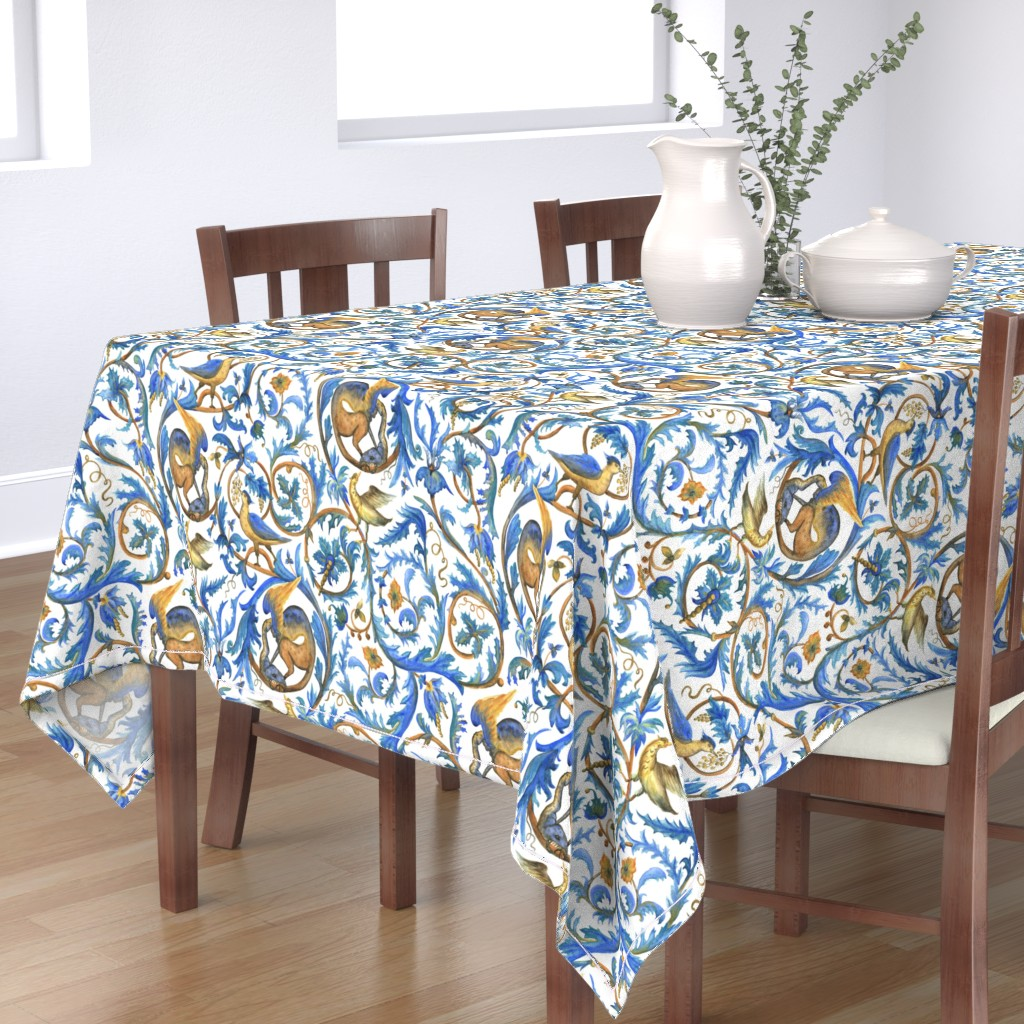 Bantam Rectangular Tablecloth featuring Enchanted garden by sveta_aho