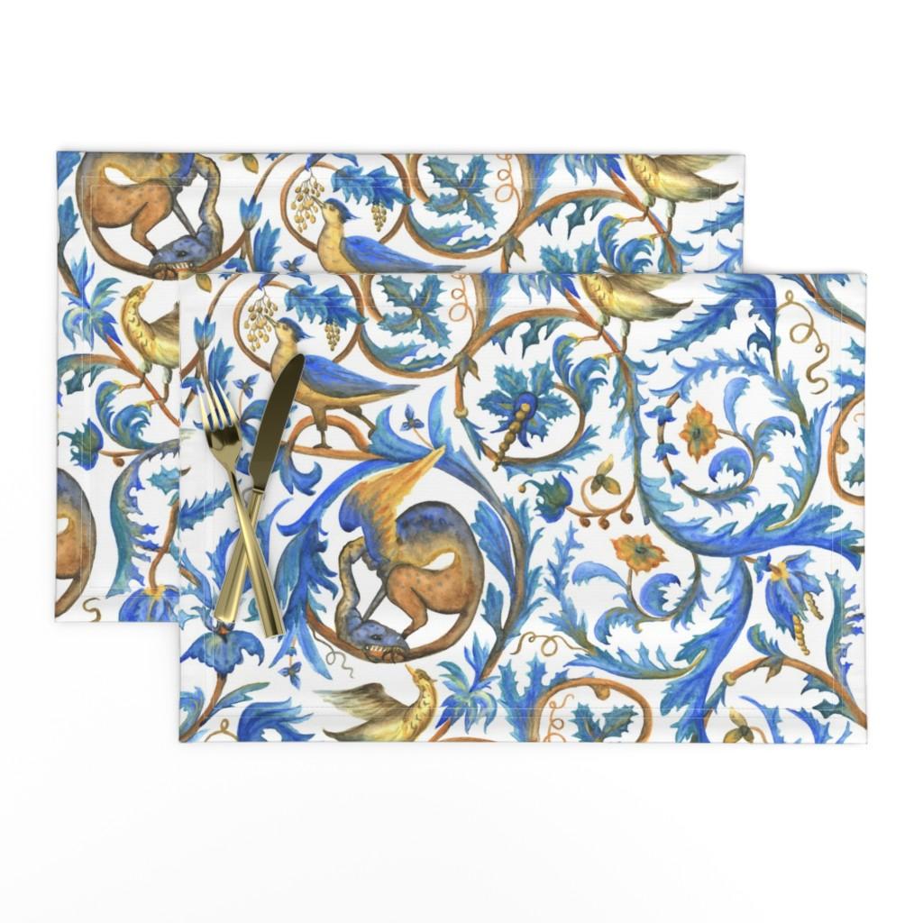 Lamona Cloth Placemats featuring Enchanted garden by sveta_aho
