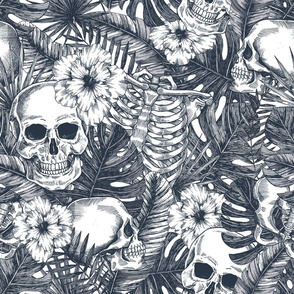Skulls in jungle
