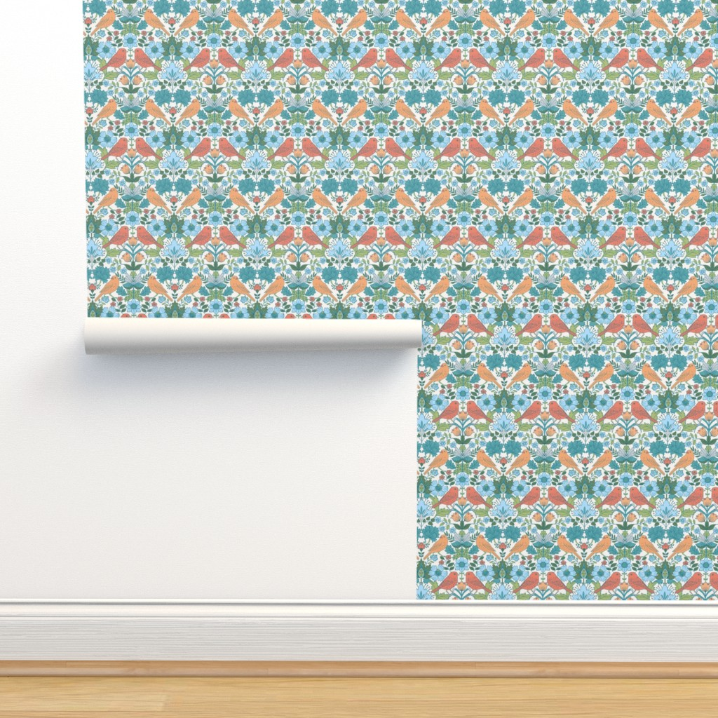 Isobar Durable Wallpaper featuring Victorian Birds (vic 3) by cressida_carr