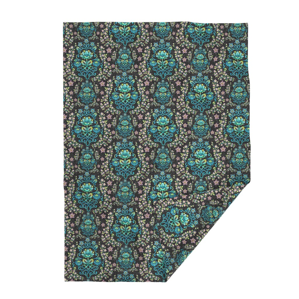 Lakenvelder Throw Blanket featuring Nouveau Victoriana by patriciasheadesigns