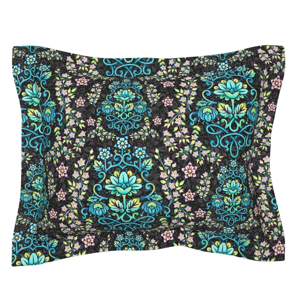 Sebright Pillow Sham featuring Nouveau Victoriana by patriciasheadesigns