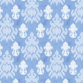 17-11C White Ikat on Baby Blue Boy || Home decor _ Miss Chiff Designs