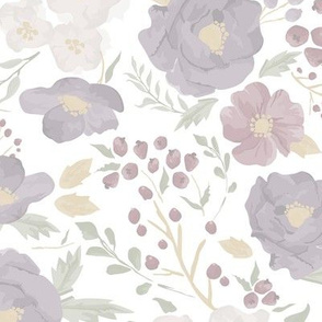 "Lightened / Softened ""Sat. Autumn Meadow Floral"" - Lightened for soft appearance"
