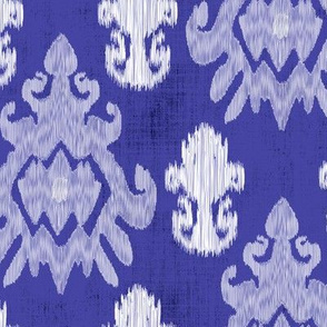 17-11A White Ikat on Royal Blue Purple _ Miss Chiff Designs