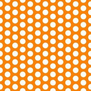 FS Medium Polka Dot on Carrot Orange