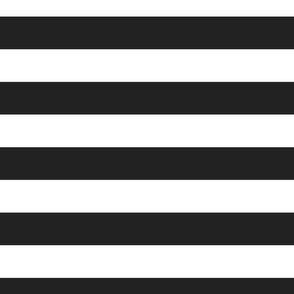FS Wide 2 Inch Raven Black and White Stripe